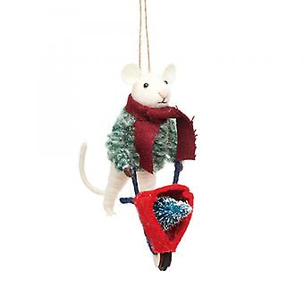 Sass & Belle Christmas Mouse Decoration