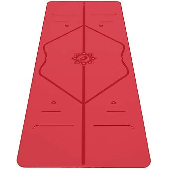 Liforme Love Travel Yoga Mat- Patented Alignment System,  Non-slip (Red)