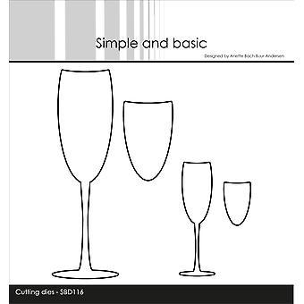 Enkel och grundläggande Champagne Glasögon Cutting dör