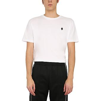 Marcelo Burlon Cmaa075r21jer0010110 Men's White Cotton T-shirt