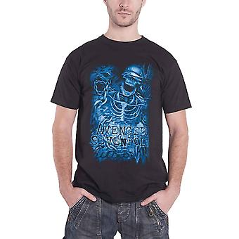 Avenged Sevenfold Chained Skeleton Band Logo Official Mens New Black T Shirt