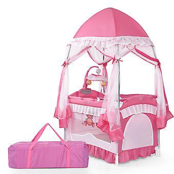4 In 1 Convertible Baby Bassinet Portable Toddler Playard W/ Detachable Mesh Net