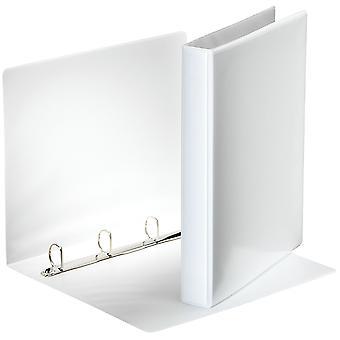 Esselte 49702 Essentials Presentation Binder 4 D Ring 25mm Capacity White