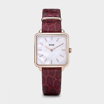 Cluse Ladies La Tetragone Rose Gold Square Quartz Fashion Watch CW0101207029