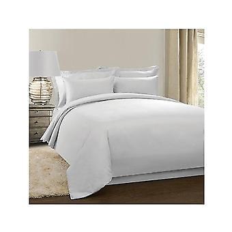 Jenny Mclean La Via Plain Quilt Cover Set Cotton Single 400Tc White