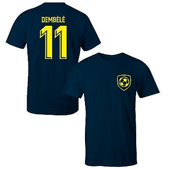عثمان دمبيلي 11 برشلونة نمط لاعب تي شيرت