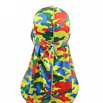 Fashion Silky Durags Turban Print Headwear Bandana Headband Hair Accessories