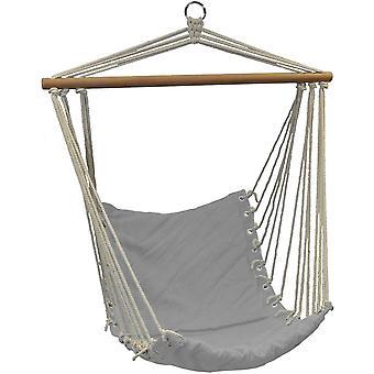 Lógó szék szürke 90x50 cm - függőágy fotel varrott párna