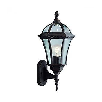 Lámpara De Pared Capri 20 Cm, En Aluminio Y Vidrio, Marrón Rústico.