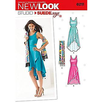 New Look Ladies Sewing Pattern 6211 Evening Dresses & Wrap Size 4-16 E 30-42