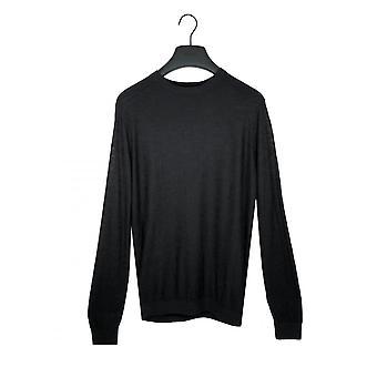 Antony Morato Mens Sweater In Slub Linen Black