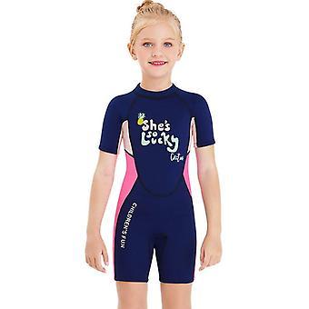 الأطفال wetsuit طويلة الأكمام قطعة واحدة الأشعة فوق البنفسجية حماية ملابس السباحة الحرارية dfse-20