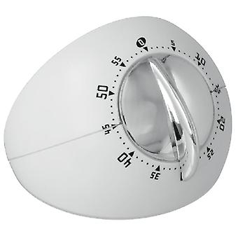 sinatra design stainless steel white/chrome timer
