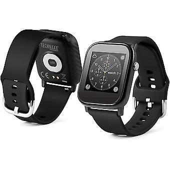 Wokex Smartwatch mit Temperaturmessung TX-SW6HR - Temperatur, Herzfrequenz, Schritte, zurckgelegte