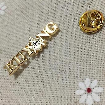 Kuyang freemasonry square and compass masonic lapel pin