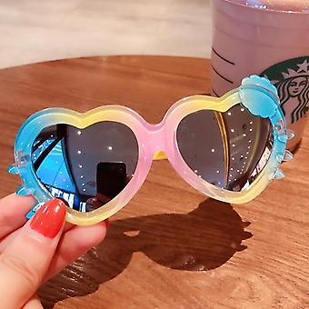 Children's Colors Cartoon Bear Shape Fashion Round Sunglasses