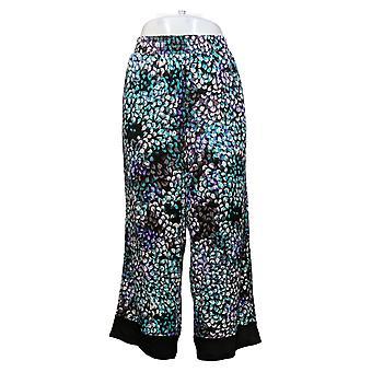Carole Hochman Women's Pants Hydgrangea Feather Soft Capri Black A391435