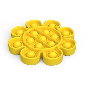 2Pcs Blume Form gelb Push Pop Blase fidget sensorische Spielzeug az569