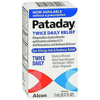 Genteal Pataday Twice Daily Eye Allergy Itch & Redness Relief, 5 ml