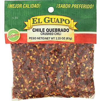 El Guapo Chili Crushed, Case of 12 X 2.25 Oz