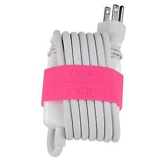 Incipio Block Bands for 60W Power Adapter for 13'' MacBook/MacBook Pro - Neon Pink