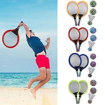 Aloittelija Sulkapallo maila set valoisa tennis maila asettaa kannettavat harjoitusvälineet Lasten lahja (punainen)