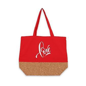 متعددة الاستخدامات حقيبة الحب الأحمر النسيج (15 × 36 × 45 سم)