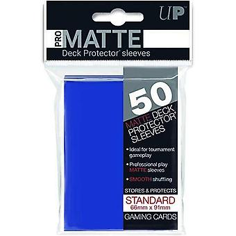 Ultra Pro Matte Standard Deck Protectors (50 Sleeves) - Blue