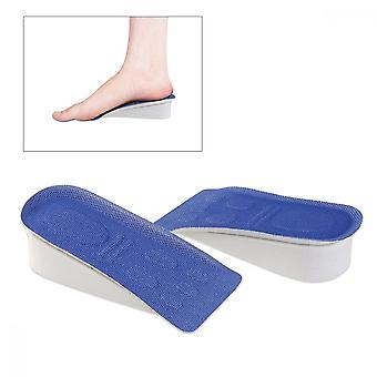 Pair Of Eva 3cm Invisible Heel Insert Taller Height Lift Pad Shoes Insole (random Color)