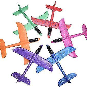رغوة لعبة اليد رمي طائرة شراعية طائرة طائرة DIY نموذج لعبة رمي الدوار