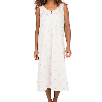 Cyberjammies Nora Rose Audrey 1555 Women's White Floral Embroidered Nightdress