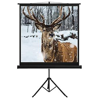 """Projection Screen with Stand 48"""" 1:1 Home Film Display Projector Screen"""