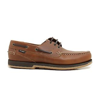 Loake 521T2 Brown Waxy Leather Mens Deck Shoes