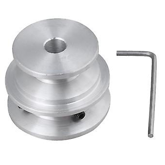 Pulleys, blocks sheaves 40x30x8mm silver aluminum 2-step groove fixed bore pulley with wrench
