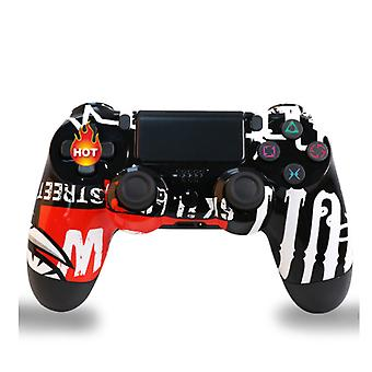 2pc set Wireless PS4 Controller Bluetooth Gamepad For PlayStation 4 Pro/Slim/PC/Android/IOS/Steam/DualShock 4 Game Joystick Graffiti 10