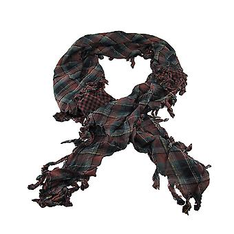 Brown Plaid Triangular Reversible Neck / Face Scarf Tartan