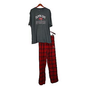 NFL Women's Men's Pajama Set w/ Flannel Pants & T-Shirt Gray A370734