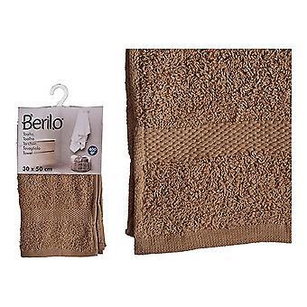 Bath towel Polyester Cotton Camel