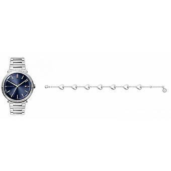 kvinners klokke tommy hilfiger klokker gave sett - 2770111 armbånd stål sølv