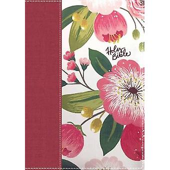 The NKJV Womans Study Bible Cloth over Board Pink Floral Red Letter FullColor Edition Thumb Indexed by General editor Dorothy Kelley Patterson & General editor Rhonda Kelley