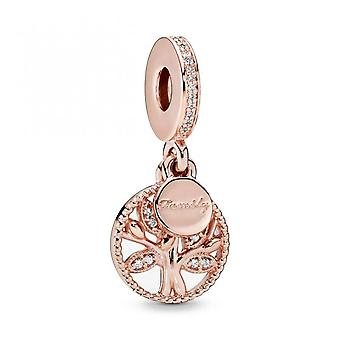 New Silver Rose Gold Family Tree Fashion Bracelet Beads Charm Fit Original For Women Diy Jewelry