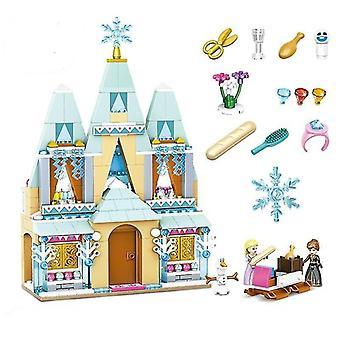 Age 3+, 360 pieces disney frozen princess elsa and anna building model blocks set for children(3)