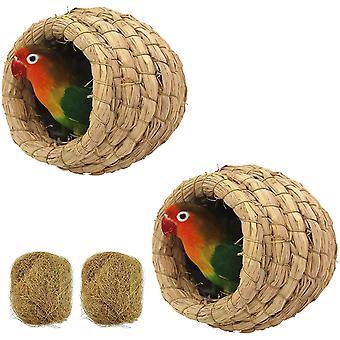 2bucs Birdcage paie natural fiber simulare Birdhouse odihnă locul de reproducere pentru păsări handmade păsări cuib de paie bird