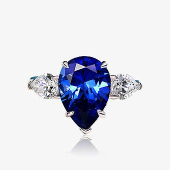 Sapphire Women Silver Ring