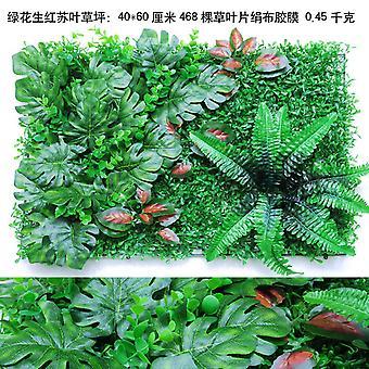 Symulacja Ciany Z Tworzywa Sztucznego Trawnika Zielona Ciana
