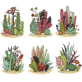 kaktus hager vegg klistremerke dekaler (størrelse: 77cm x 65cm)