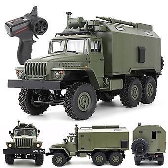 Ural 1/16 2.4g 6wd Fjärrkontroll Lastbil Kommando Kommunikationsfordon