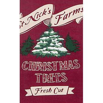 St Nicks Farms Fresh Cut Holiday Trees 28 Inch Printed Kitchen Tea Towel Kay Dee