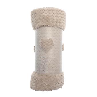 نادي شركة شيفرون مجهرية بطانية رمي، 150 × 200 سم، المنك الطبيعي
