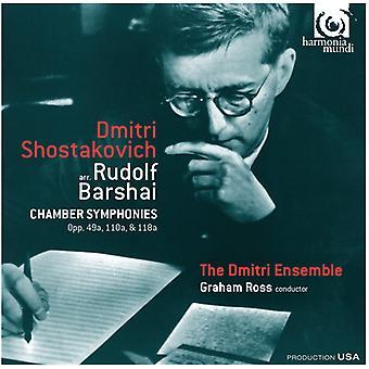 Shostakovich, D. / Dmitri Ensemble / Ross, Graham - Chamber Symphonies [CD] USA import